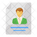 Resume Cv Personal Biodata Icon