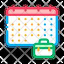Calendar Suitcase Case Icon