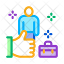 Job Approval Person Icon
