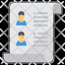 Human Resource Resume Job Description Icon