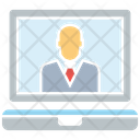 Job Interview Businessman Laptop Icon