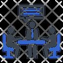 Business Meeting Job Interview Teamwork Icon