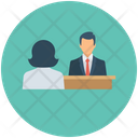Job Interview Recruitment Business Icon