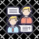 Job Interview Communication Icon