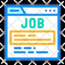 Job Search Web Icon