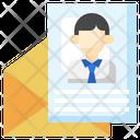 Job Letter Employee Cv Letter Icon