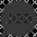 Job Message Bubble Icon
