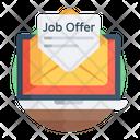 Job Offer Job Letter Job Permit Icon