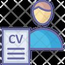 Job Profile Job Applicant Resume Icon