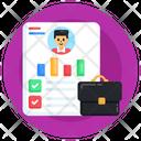 Business Profile Job Profile Resume Icon