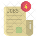 Artboard Job Recruitment Message Job Offer Letter Icon
