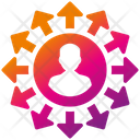 Job Replacement Employee Change Staff Replacement Icon