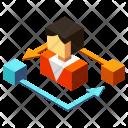 Job rotation Icon