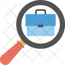 Portfolio Magnifier Recruitment Icon