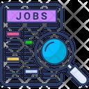 Job Search Job Magnifier Icon