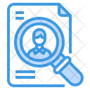 Human Resource Job Search Magnifying Glass Icon