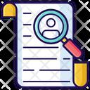 Job Search Recruitment Search Talent Icon