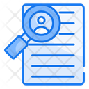 Job Search Magnifying Find Icon