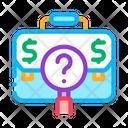 Job Search Researcher Business Laboratory Icon