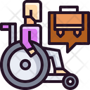 Seeker Job For Disabled People Job For Handicap Icon