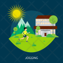 Jogging Sun Tree Icon