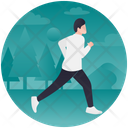 Jogging Trotting Running Icon