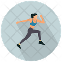 Jogging Running Fitness Icon