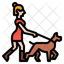 Jogging With Dog Jogging Park Icon