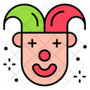 Joker Face Clown Icon
