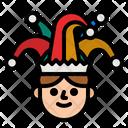 Joker Carnival Hat Hat Icon
