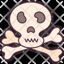 Jolly Roger Skeleton Danger Symbol Icon