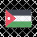 Jordan Flag Country Icon