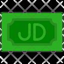 Jordanian Dinar Banknote Country Icon