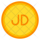 Jordanian Dinar Coin Currency Icon