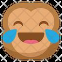 Joy Laugh Monkey Icon