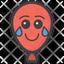 Joy Balloon Balloon Face Emoticon Icon
