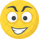 Grinning Joyful Emoticon Icon