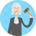 Judge Character Profession Icon