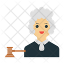 Judge Female Character Icon