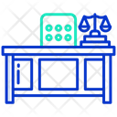 Judge Desk Judge Table And Chair Judge Bench Icon