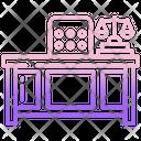 Judge Desk Icon