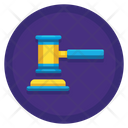 Judge Hammer Auction Court Icon
