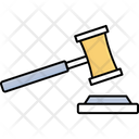 Auction Hammer Judge Hammer Justice Equipments Icon