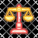Judicial Scales Color Icon
