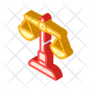 Judicial Scales Isometric Icon