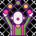 Juggler Juggling Ball Circus Perfomance Icon