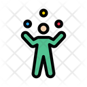 Juggling Circus Trick Icon