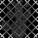 Jugglingn Monkey Monkey Unicyclist Icon