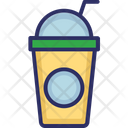Juice Disposable Glass Straw Icon