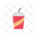 Juice Papercup Straw Icon